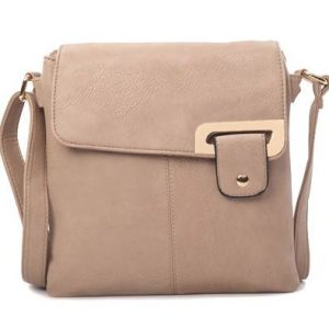 Khaki Shoulder/Crossbody Bag (LS673) | Italian Leather Bags
