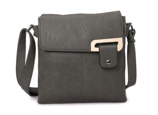 Dark Grey Shoulder/Crossbody Bag (LS948)