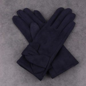 Twist Detail Navy Gloves