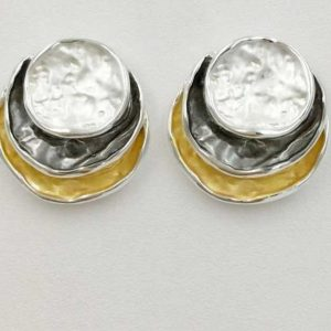 Stunning 3 Tone Earrings (G69e)
