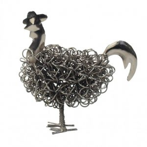 Silver Wiggle Rooster