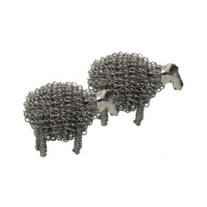 Silver Wiggle Lamb | Unusual Gifts | Homeware Gifts | Handmade Gifts