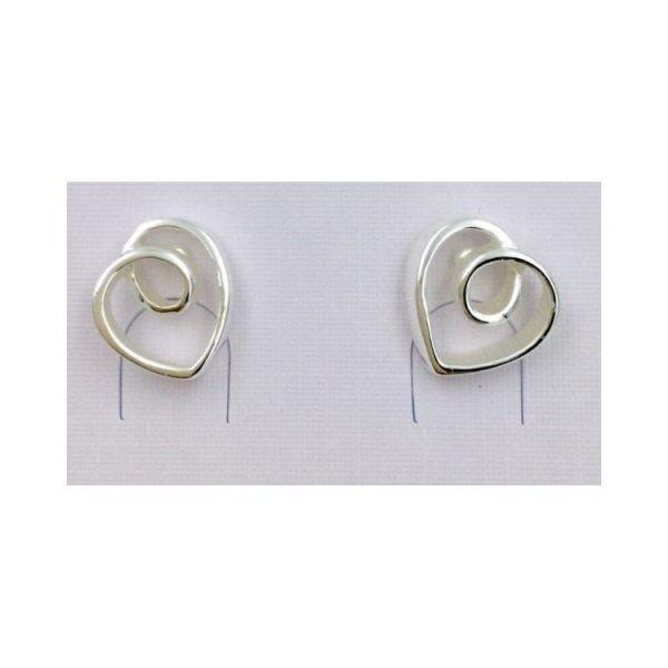 Gorgeous Asymmetrical Open Heart Earrings (G394)