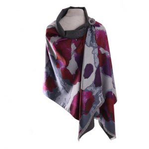 Luxury Pashmina Magenta Abstract