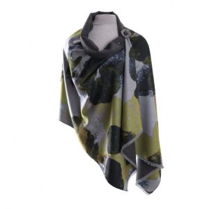 Luxury Pashmina Mustard Abstract