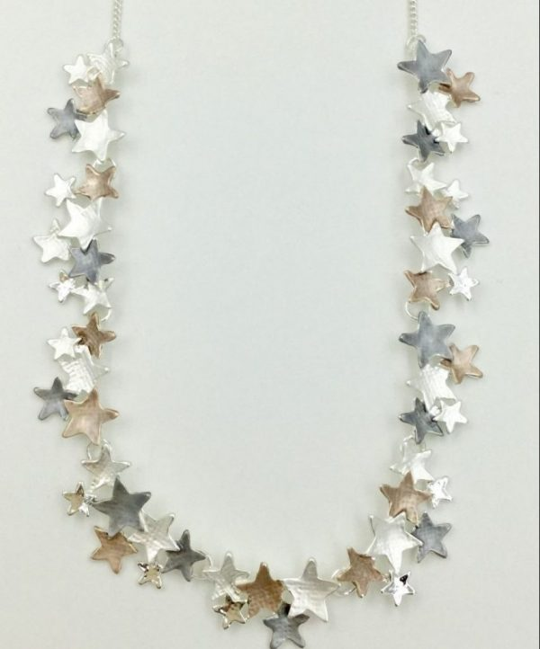 Beautiful 4 Tone Star Necklace (G450)