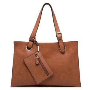 Brown Shoulder Bag with Purse (LS624)