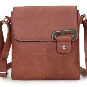 Brown Shoulder/Crossbody Bag (LS466) | Italian Leather Bags