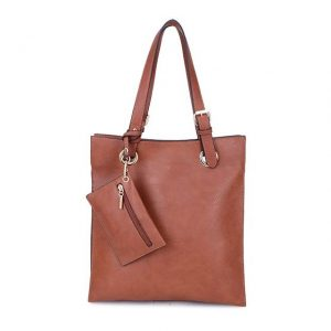Brown Shoulder Bag with Purse (LS727)