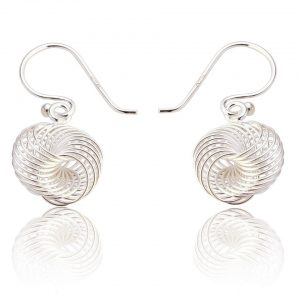 Spirograph Design Sterling Silver Drop Earrings (SP228)