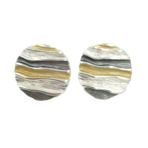 3 Tone Earrings (G336) | Silver Plated Jewellery