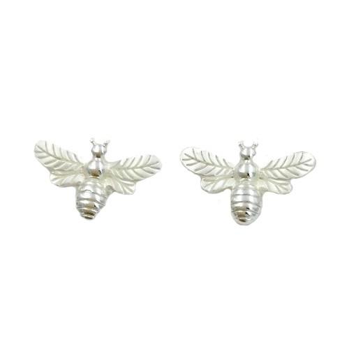 Cute Silver Coloured Bee Earrings (G500)