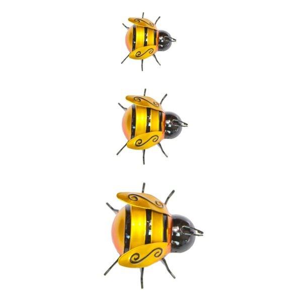 Set of 3 Metal Bumble Bees