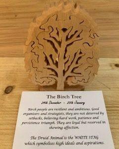 Birch Birthday Tree Small 24th December - 20th January   Homeware Gifts   Handmade Gifts