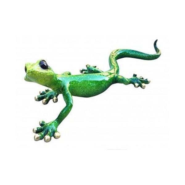 Green Speckled Ceramic Gecko