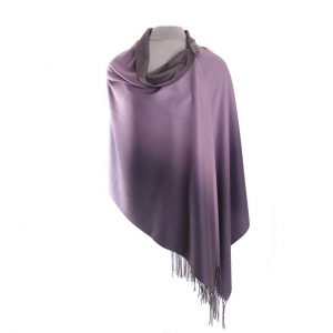 Luxurious Lilac/Grey Pashmina with Pin