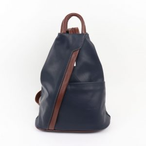 Italian Leather Backpack Navy | Italian Leather Bags