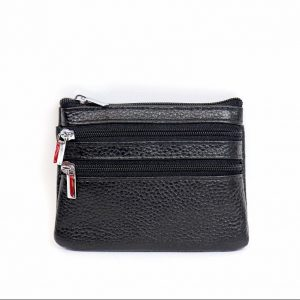 Italian Leather Purse (BAG59) - Black