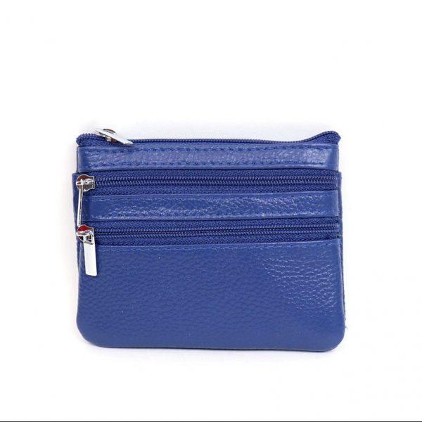 Italian Leather Purse (BAG59) - Blue