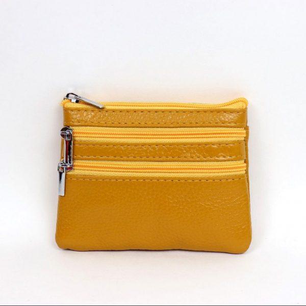 Italian Leather Purse (BAG59) - Yellow/Mustard