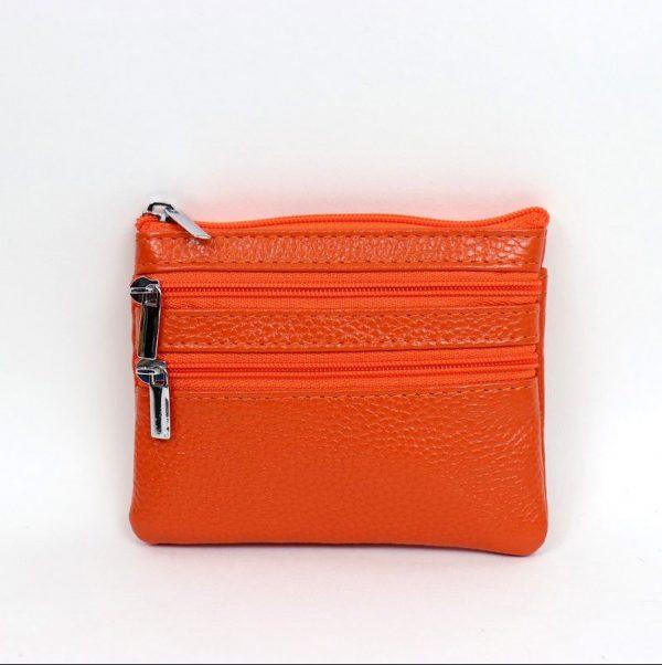 Italian Leather Purse (BAG59) - Orange