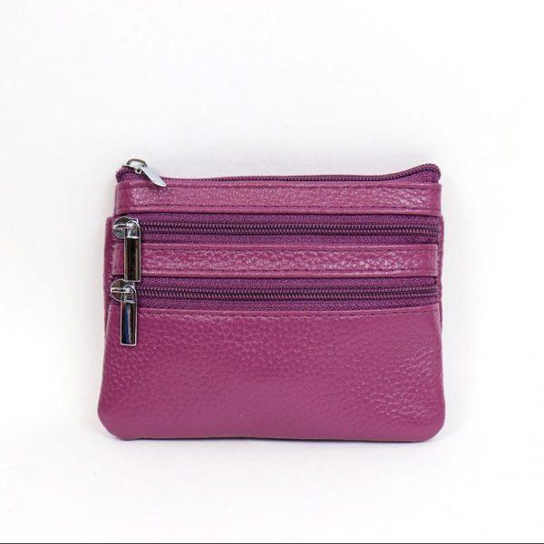 Italian Leather Purse (BAG59) - Purple