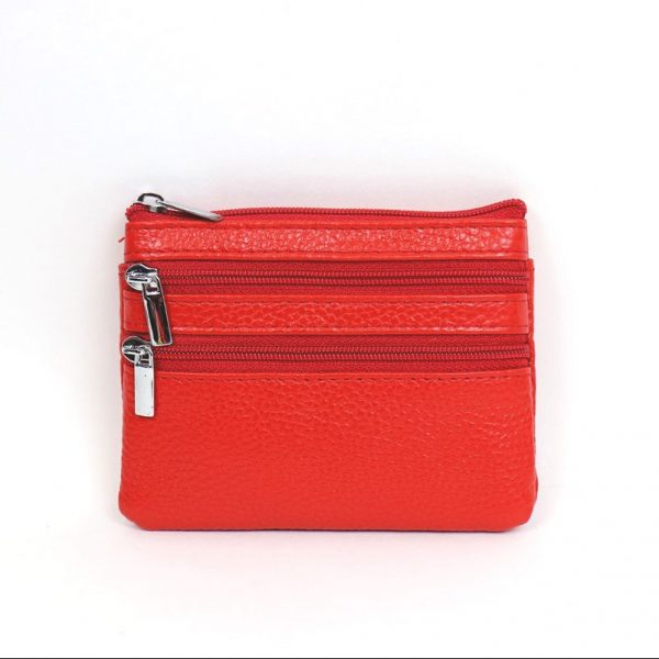 Italian Leather Purse (BAG59) - Red
