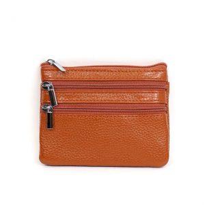 Italian Leather Purse (BAG59) - Brown/Tan