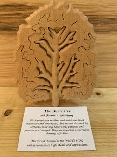 Birch Birthday Tree Large 24th December - 20th January | Homeware Gifts | Handmade Gifts