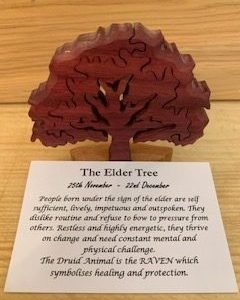 Elder Birthday Tree 25th November-23rd December | Homeware Gifts | Handmade Gifts