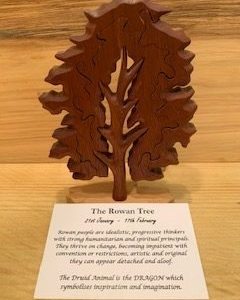 Rowan Birthday Tree Large 21st January - 17th February | Homeware Gifts | Handmade Gifts