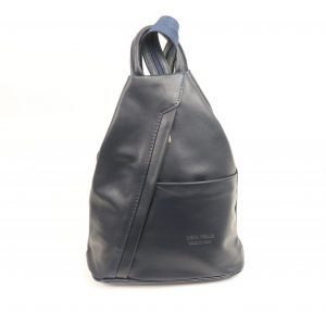 Italian Leather Navy Backpack | Italian Leather Bags
