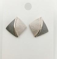 Diamond shaped earrings   Silver Jewellery