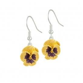 Pansy earrings