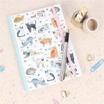 Recycled cat notebook