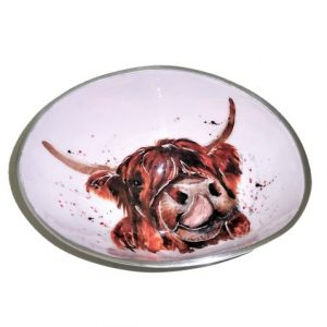 Homeware Gifts | Highland Cow Small Oval Bowl
