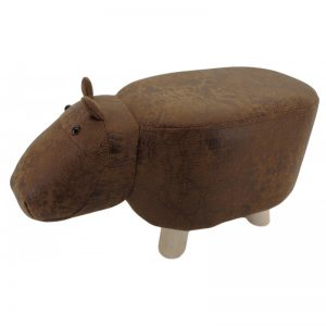 brown hippo footstool | Animal Footstool | Homeware Gifts | Unusual Gifts
