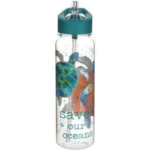 turtle drinks bottle