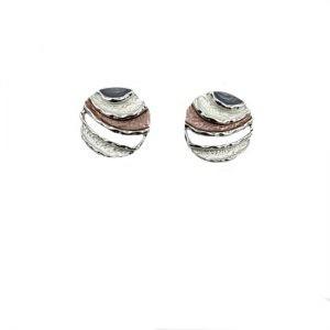 Round stud earrings   Silver Jewellery