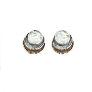 3 tone stud earrings | Silver Jewellery