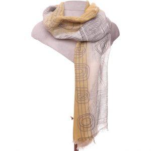 Mustard grey scarf