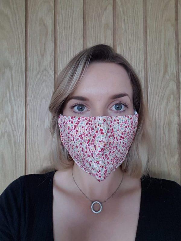 Red flower face mask