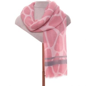 Pink pleated scarf