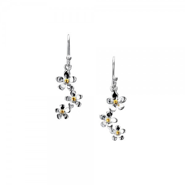 Daisy drop earrings | Silver Jewellery