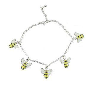 Enamelled Bee Bracelet | Silver Jewellery