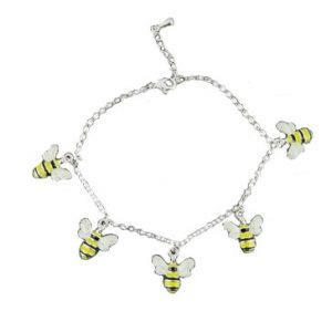 Enamelled Bee Bracelet