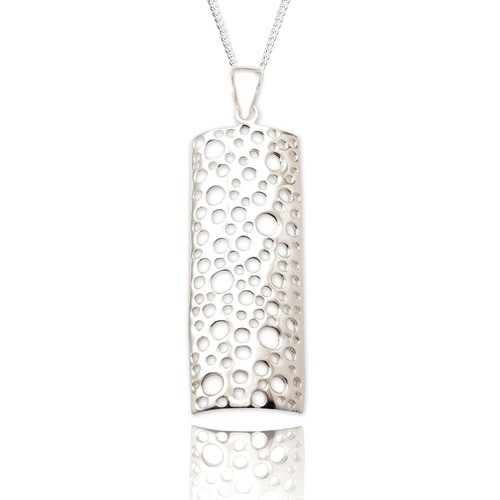 Sterling silver oblong necklace | Pendant | Silver Jewellery