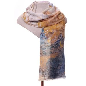 Mustard water colour scarf