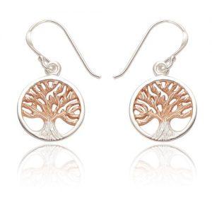 Sterling silver tree of life earrings | Silver Jewellery