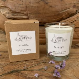 Natural wax bluebell votive candle | Unusual Gifts | Eco Friendly Gifts